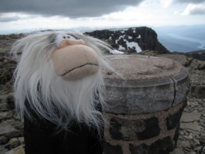 Monkey is on the highest mountain of Britain but where is he?