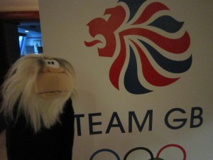 I arrived at the Team GB hotel.