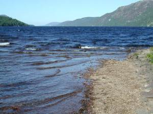 Loch Ness where the snowman's head was dumped on Sunday night.