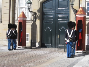 The guards was eager to stare each other out!