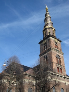 The church with it corkscrew spire.