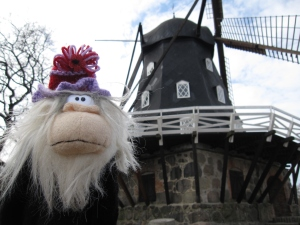Me posing next to the windmill.