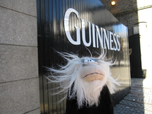 Me outside the gates of Guinness Storehouse.