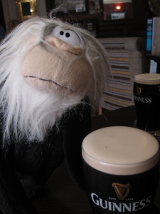 Me having a Guinness.