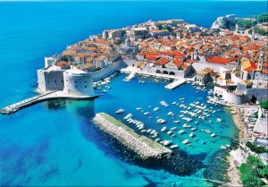 Dubrovnik old town, a world heritage site.