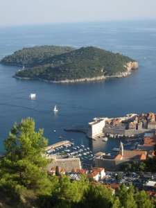 Lokrum Island near to Dubrovnik Harbour.