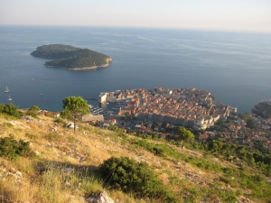 I could see the Old Town and Lokrum Island clearly now.
