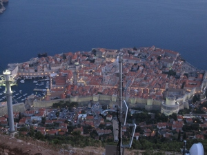 It was nighttime over Dubrovnik.