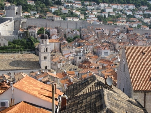 The red top roofs of the old town.