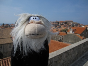 Looking over the houses of the old town.