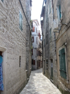 The narrow streets of the Old Town.