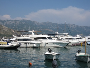 The motor yachts of the rich.