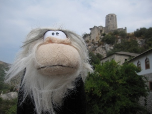 Me posing with Počitelj Tower.