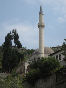 The mosque that stands in Počitelj.
