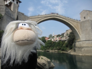 I posed next to the Old Bridge.