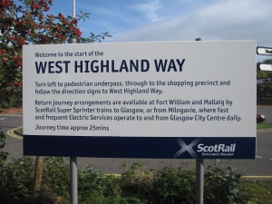 The start of the West Highland Way.