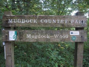 The walk takes me through Mugdock Country Park.