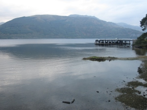 The jetty at Rowardennan.