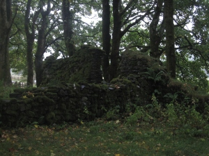 The ruins of St Fillans Chapel.