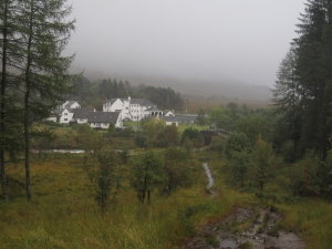 Looking back onto the hamlet of Bridge of Orchy.