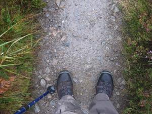 I was glad that I had dry feet.