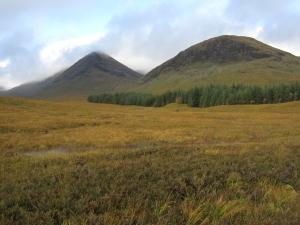 The mountains of Scotland.