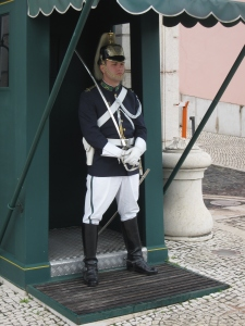 The ceremonial guard at the entrance to the palace.