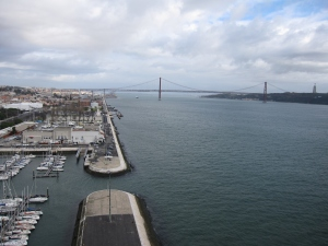 The bridge across the Tagus River can be seen.