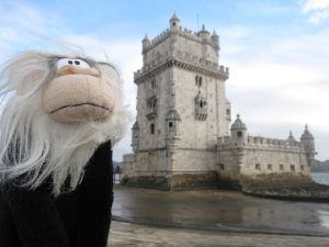 Me posing in front of Belém Tower.