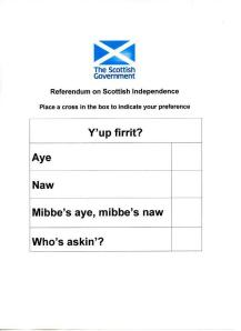 The ballot paper for the referendum.