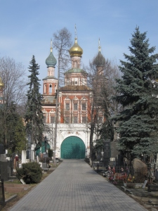 Novodevichy Cemetery is next to the convent.