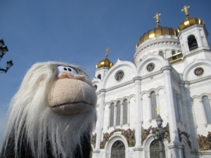 Me posing in front of Cathedral of Christ the Saviour.