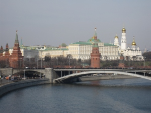 View of the Kremlin from the Moskva River.