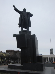 Lenin's Statue in front of Finland Station.
