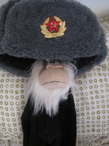 Me wearing a Soviet army hat that I got as a souvenir.