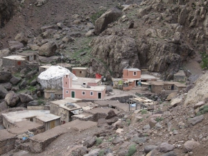 The village of Sidi Chamharouch and the shrine.