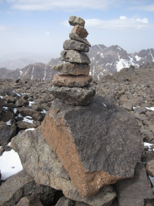 Rock stucture at the top.
