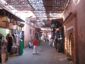 The souk in the medina.