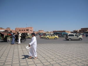 The square is the centre of Old Marrakesh.