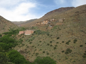 A village in the mountains.