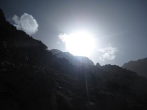 Even through it got colder, the sun was still strong.