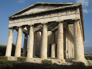 The Temple of Hephaestus is a well-preserved Greek temple.
