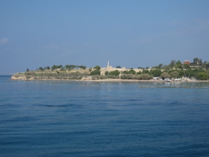 From the ferry I could see the Temple of Apollo.