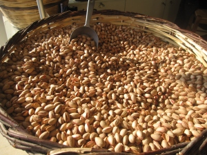 A pistachio nuts stall.