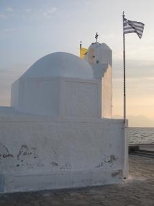 Sunset over Aegina Town.