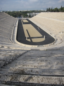 The Panathenaic Stadium hosted the first modern Olympic Games in 1896.
