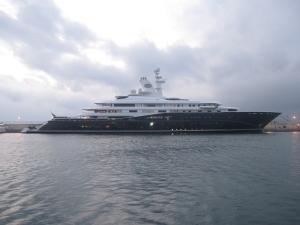 The Al Mirqab yacht belongs to former Qatar's Prime Minister Hamad bin Jassim bin Jaber Al Thani.