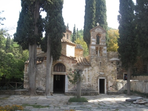 The Kaisariani Monastery is just outside Athens.