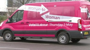 The Labour Party pink bus!