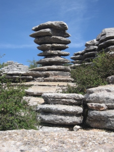 Rock stacks.